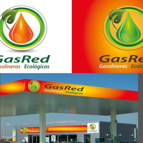 Logotipo para cadena de gasolineras respetuosas con el medio ambiente