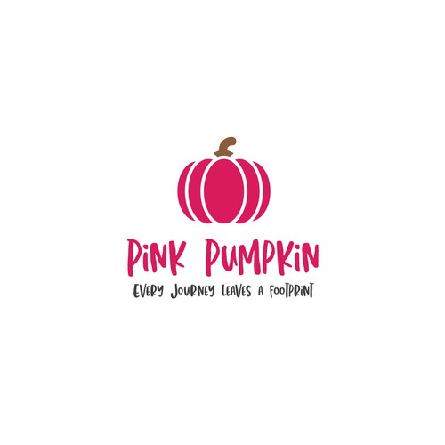 Logo design for 'Pink Pumpkin' Blog