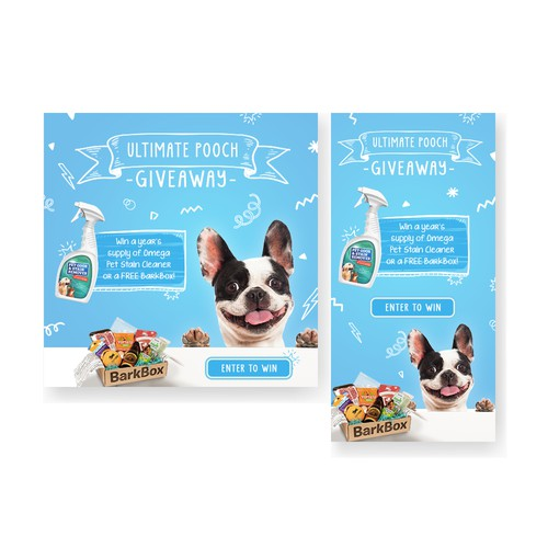 Giveaway Banner for Pet Health Brand