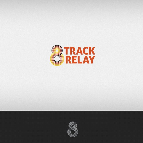 Music Festival Running Relay Event Logo