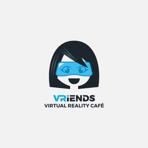 Bold simple logo for VR Friends