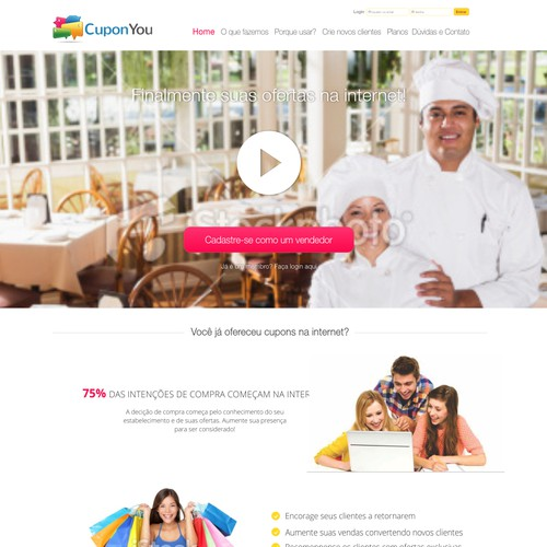 Website Design for Company Called CuponYou
