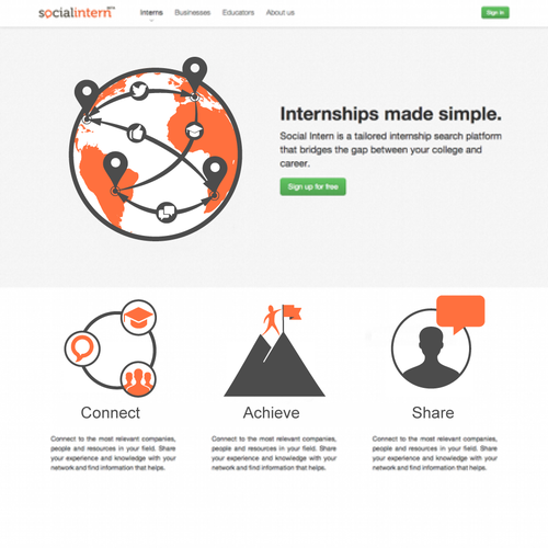 Create homepage illustrations for Social Intern