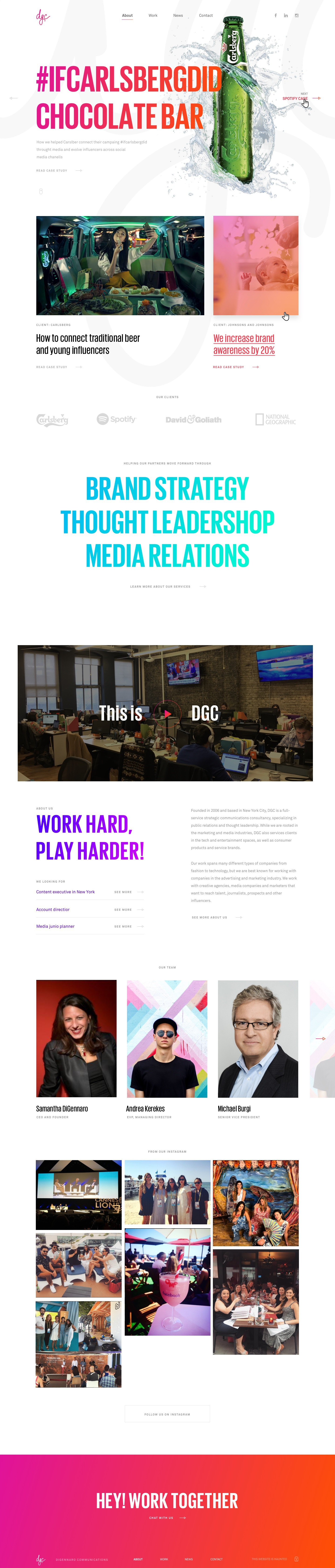 Redesign our comms agency website!
