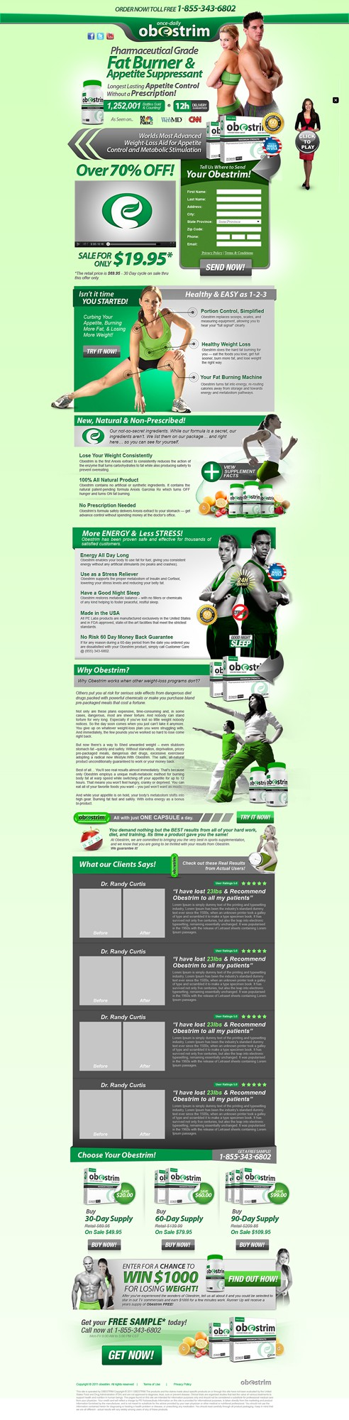 Landing Page for Rapidweightloss.com