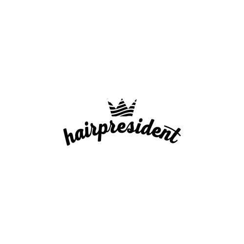 Concept for HairPresident logo