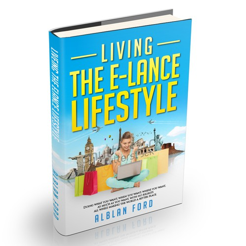 Create the next book or magazine cover for e-lance lifestyle