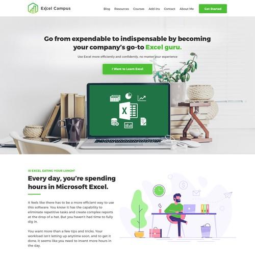 Excel Campus Landing Page