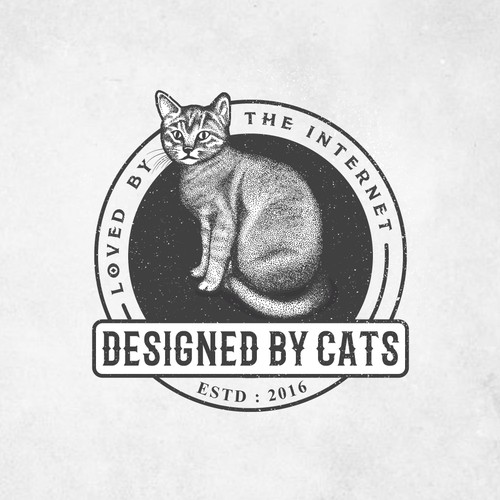 Designed by Cats, Loved by the Internet Logo Design