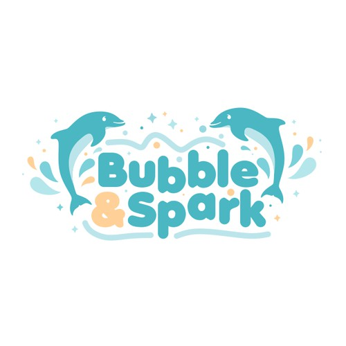 Playful Logo For Bubble and Spark