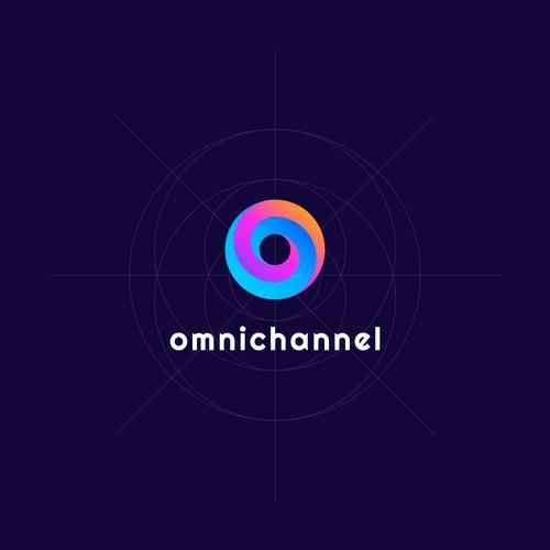 O logo design concept for Omnichannel