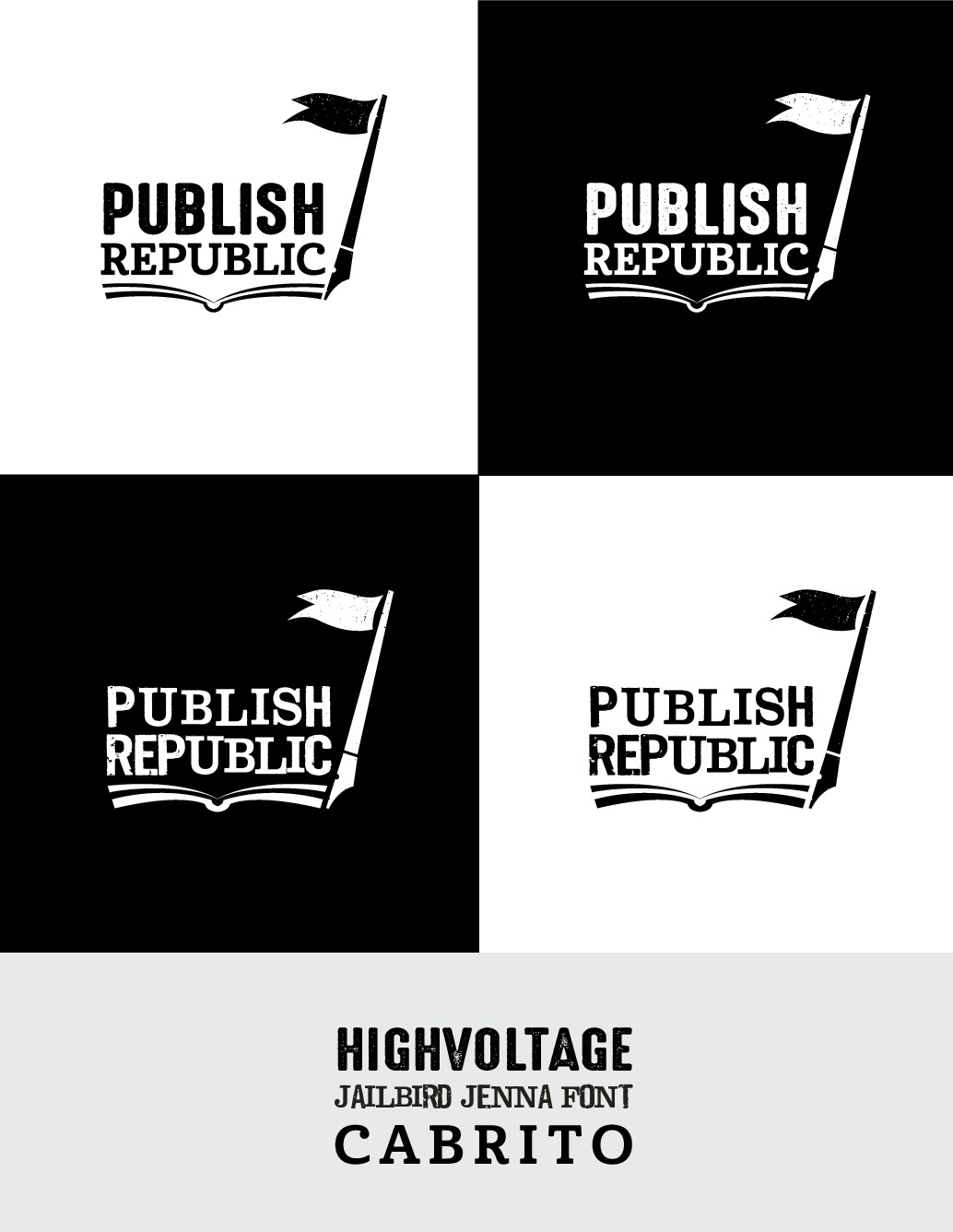 Create a smart logo for a book publishing startup