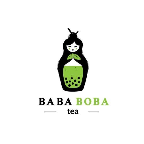 Logo concept for an high end boba tea shop