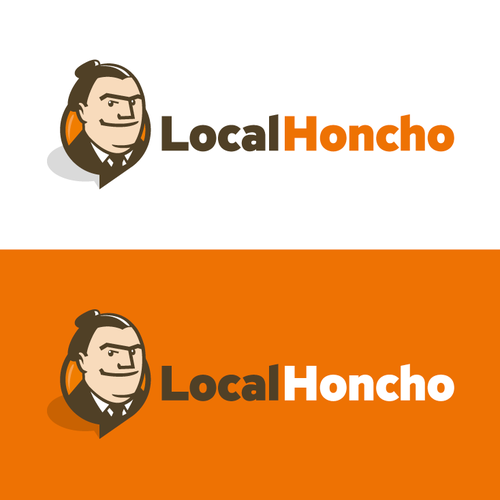 Kickass illustrated logo for local marketing company