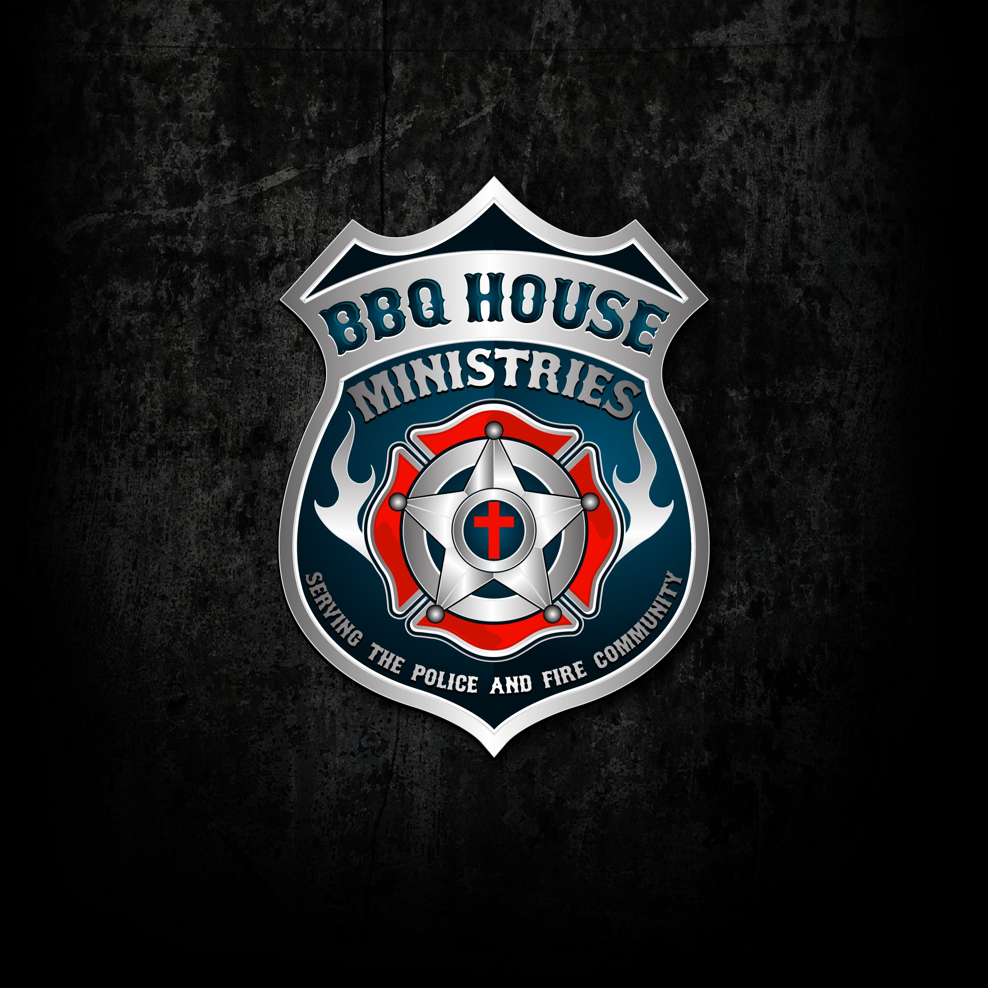 BBQ Ministry Logo For Police & Fire