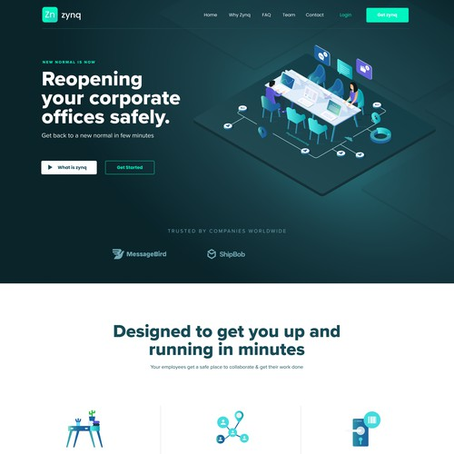 New normal Office Landing page