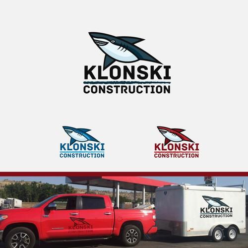 Shark logo for a construction company