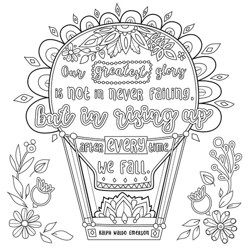 Coloring poster page