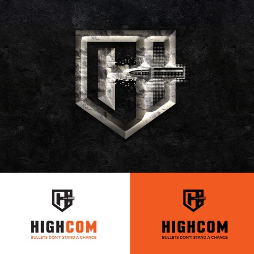 Bold logo concept for tactical gear equipment
