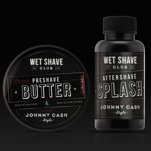 Vintage barber-style packaging for Wet Shave Club