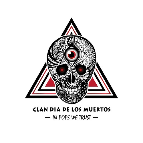 Detailed Logo with Dia de los Muertos Theme