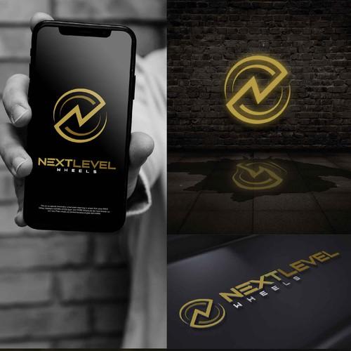 Modern logo for Next level wheels