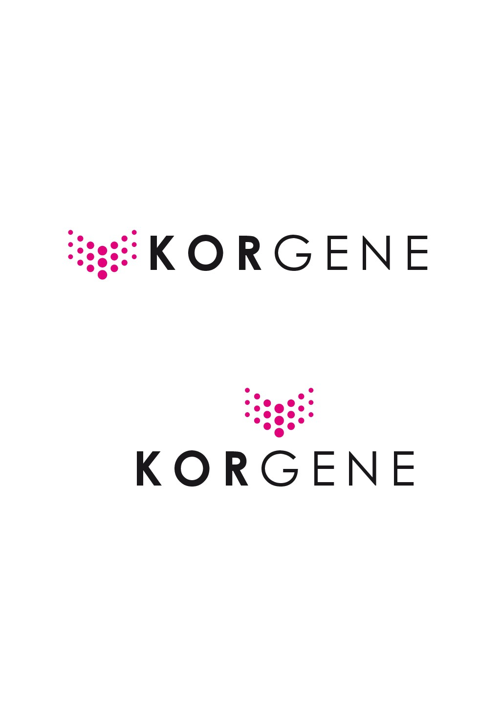 LOGO and Marketing package for KorGENE - our Cancer Panel Series