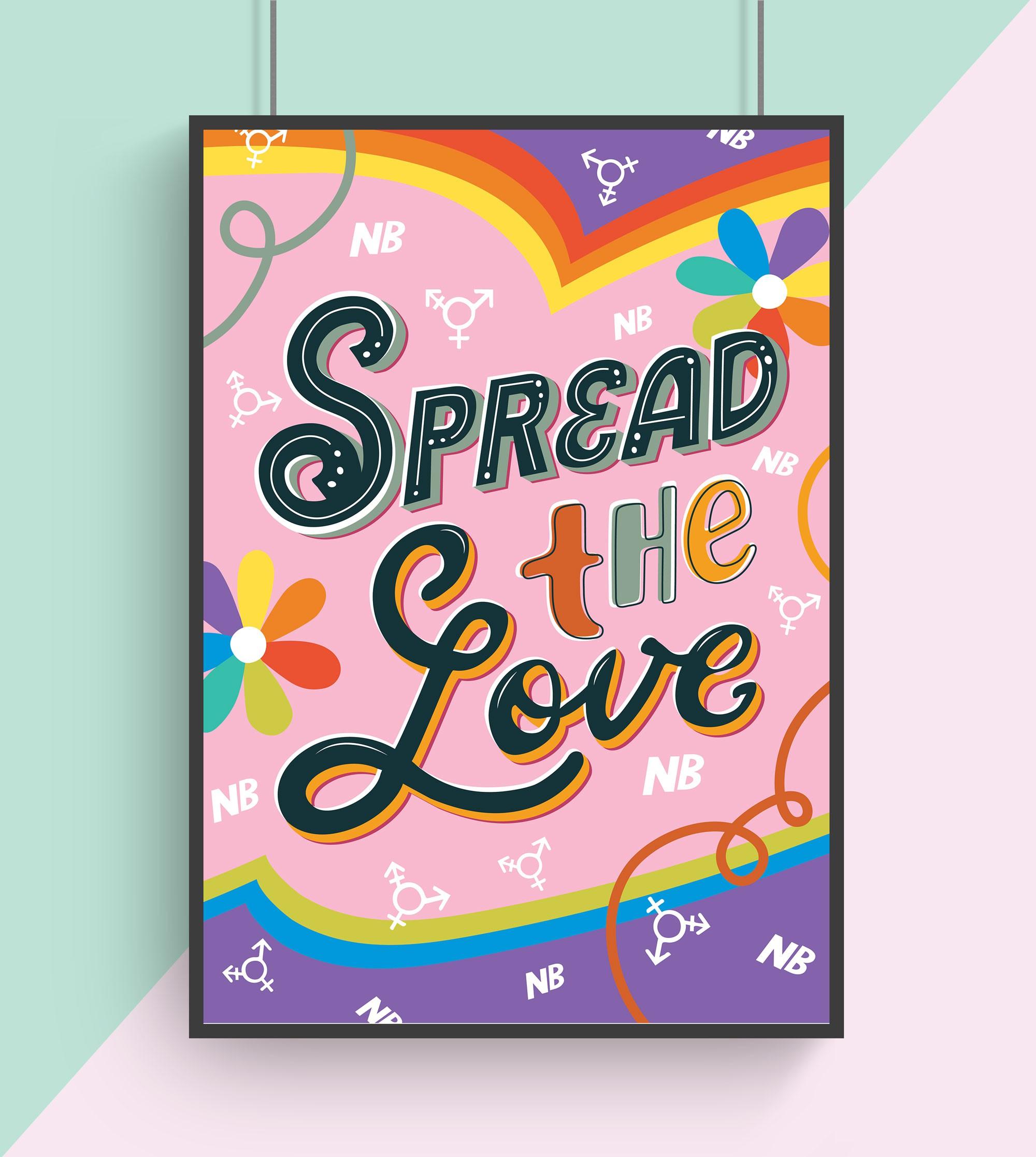 Poster art for a new social media platform