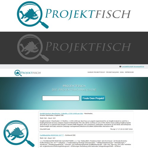 Anglerfish logo for projects search engine