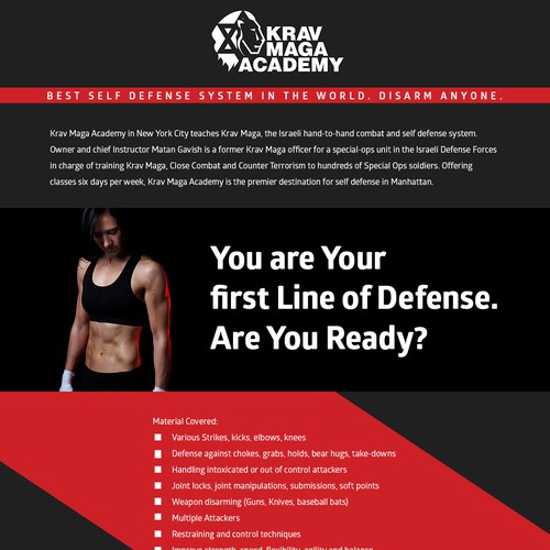 Email Template for a boutique fitness club