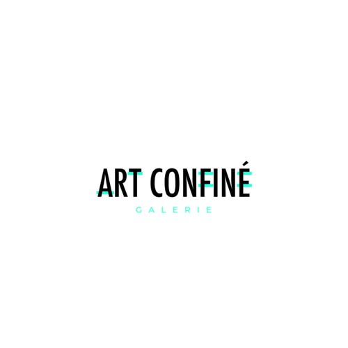 Concept de logo Art Confiné