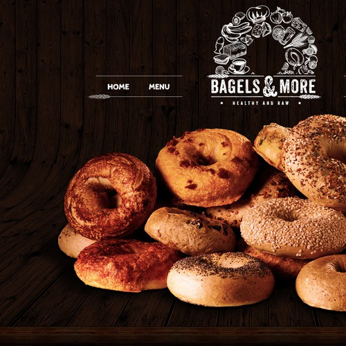 Homepage design for a bagel place