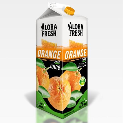 Bold & fresh design of juice