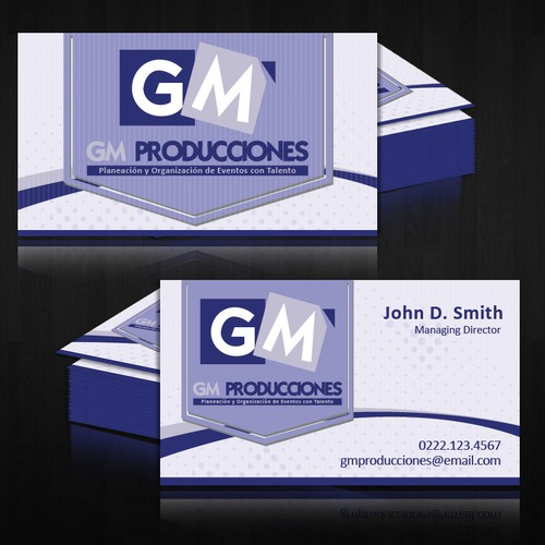 Help GM PRODUCCIONES with a new stationery