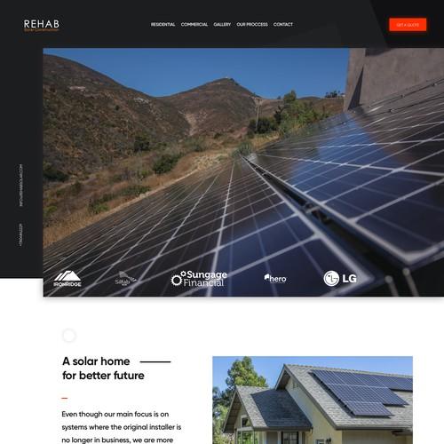 Solar Company Homepage