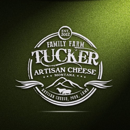 Farm logo for european style sheep cheese and pasture pork