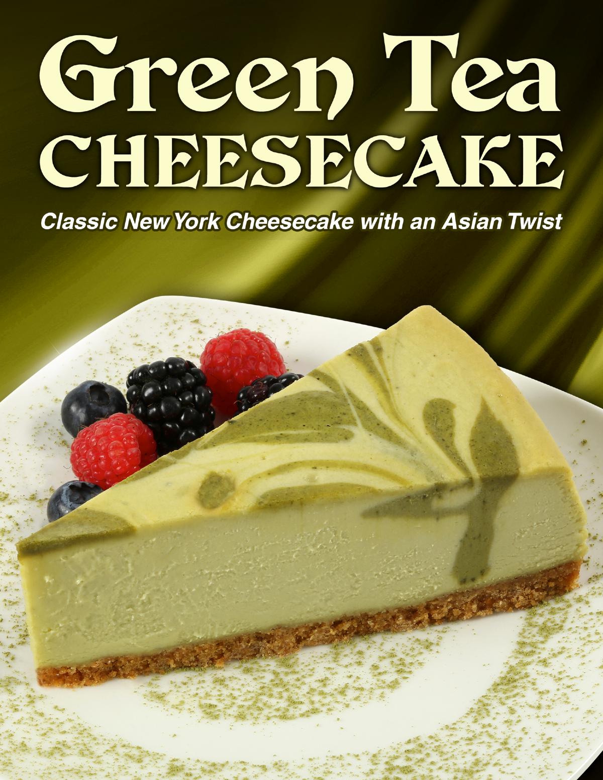 Green Tea Cheesecake Flyer
