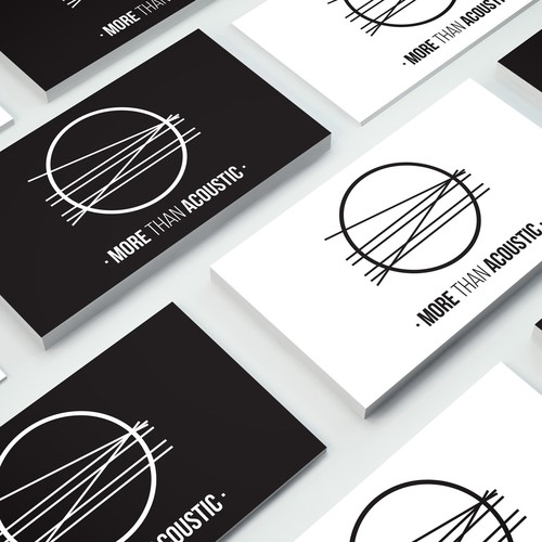 More Than Acoustic - Band Logo Design