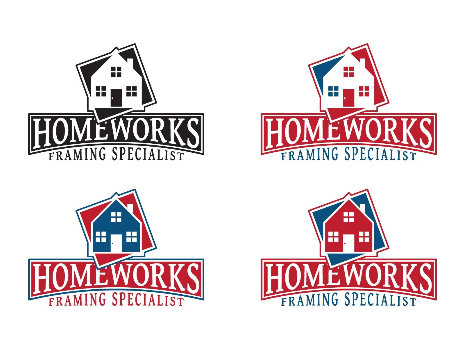 Create the next logo for Homeworks Framing Specialist