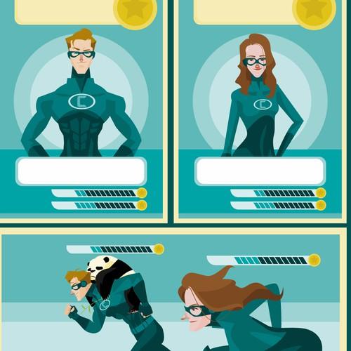 Super hero design project for Corris AG: Gamification Avatar/Maskottchen/ Superhero gesucht
