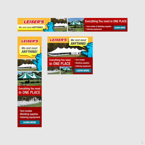 Banner Ad for Leiser's Rentals and Sales