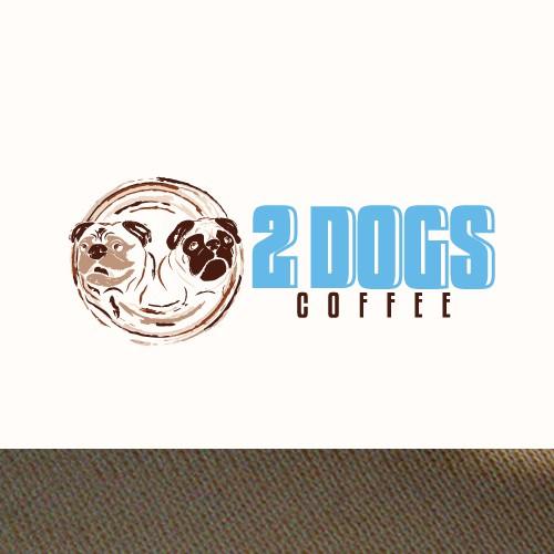 2 DOGS Coffee Vintage logo