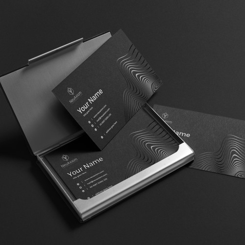 Business card design for NeuAxiom