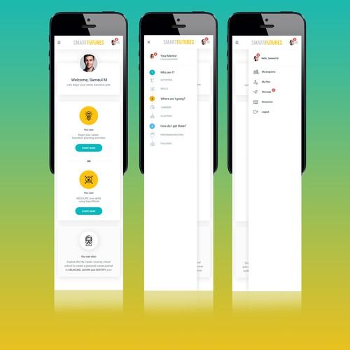 Smart Futures Dashboard Screen - Mobile View