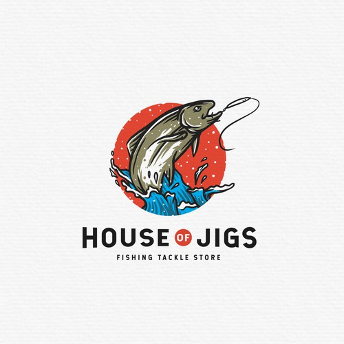 "Logo Proposal for Fishing Tackle Store ""House of Jigs"""