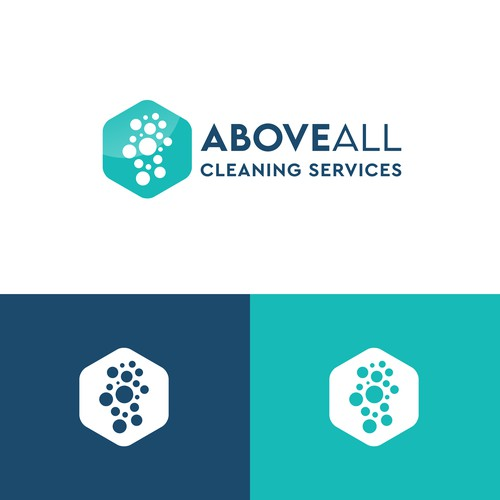 Professional logo design for a modern cleaning company.