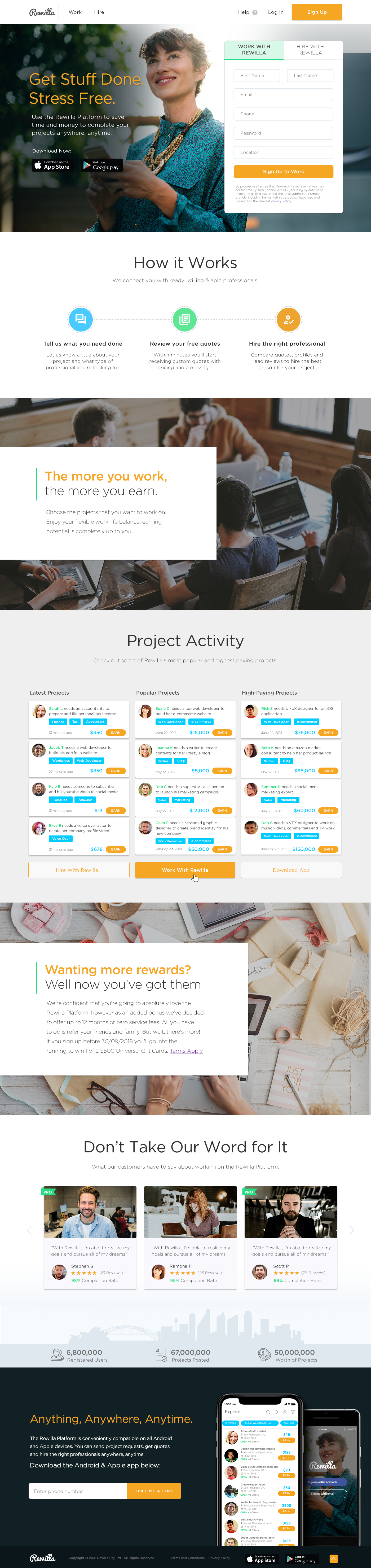 Exciting Modern Landing Page for Start Up Marketplace