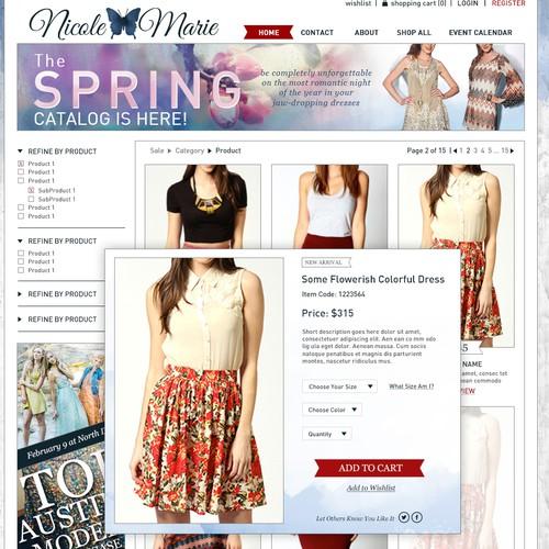 Dress designer needed a website