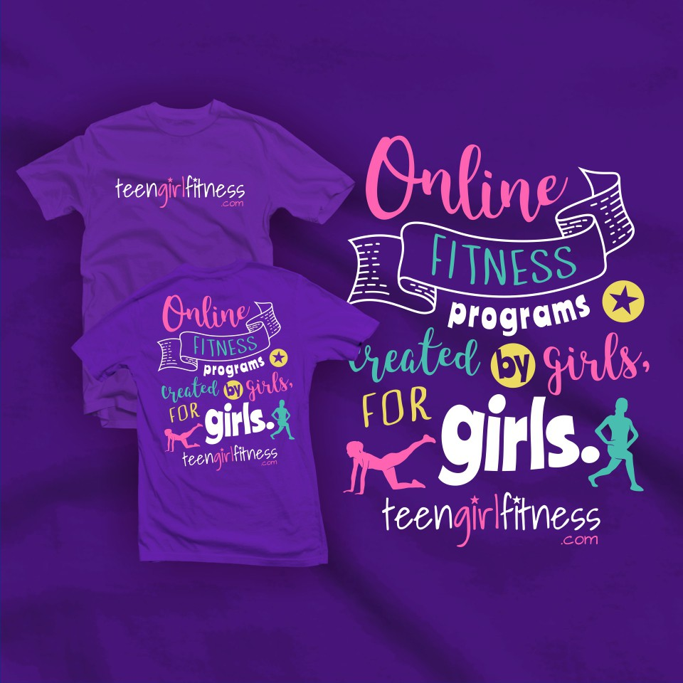 Teen Girl Fitness!! Fun, Cool, Design for Girls 12-16 years old