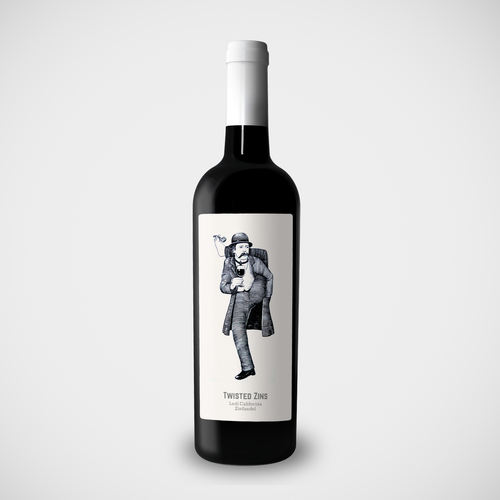 Wine Label Illustration